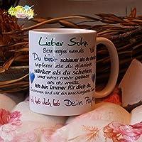 Kaffeebecher ~ Tasse - Lieber Sohn ~ Dein Papa ~ Weihnachten Geschenk
