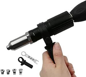 Elektrische Nietpistole Nietenaufsatz Blindnietvorsatz Nietbohrer Adapter Blindnietaufsatz Nietvorsatz f/ür 2,4 mm 3,2 mm 4,0 mm 4,8 mm Niet