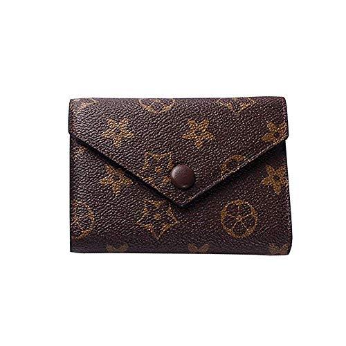 Gucci Canvas Mini (Miji Women''s Checkered Short Pattern Monogram Canvas Wallet Mini Flower Designer Purse Coin Purse Pattern)