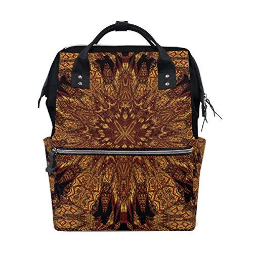 Multifunktionsrucksack Rucksack Perfect Golden Design Mandala Travel Kindertagesstätte für Frauen Mädchen -