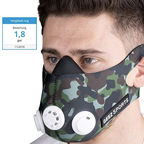 GEEZ - Máscara de Entrenamiento Profesional para Entrenamiento en altitud - Aumento de la Aptitud física, máscara de respiración, máscara de Entrenamiento, máscara de hipoxia, Training Mask