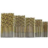 Gemini _ Mall® trapano 50PCS 1.5 millimetri-3 mm in titanio rivestito in metallo ad alta velocità in acciaio drill bit set Tool, oro