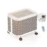 Heizung, 1000w / 2000w Klein Elektrischer Heizkörper Haushalt Energie Sparen Zum Mini Fußbodenheizung Heizung (Farbe : Weiß)