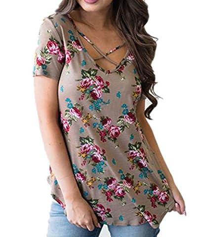 ICOCOPRO - T-shirt - Manches Courtes - Femme - marron - Medium