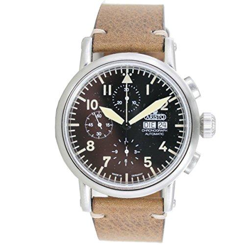 Aristo Cronografo Automatico Uomo Vintage 7h186vetro zaffiro 7h186ETA 7750Orologio Swiss Made