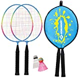 Schildkröt Funsports Junior Badminton-Set con Headcover, Set Badminton, 2 Giocatori, Multicolore