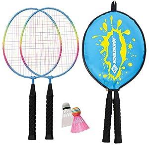 Schildkröt Kinder Federball Set Junior, 2 verkürzte Schläger 45,5 cm, 2...