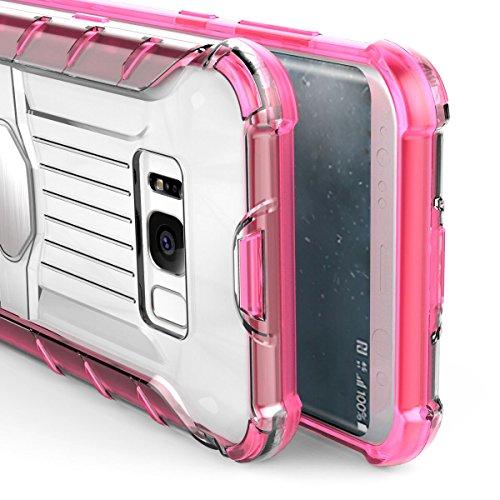Galaxy S8 Transparent Coque,EVERGREENBUYING Ultra Slim léger 2 en 1 SM-G9500 Cases Housse Plaque métallique Etui Hard Shell Back Cover Pour Samsung GALAXY S8 Jaune Gris