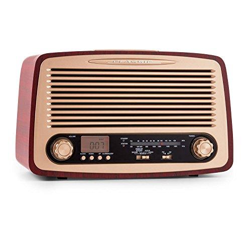 oneConcept Dabby-Holly radio (puerto USB, ranura SD, despertador, estéreo, temporizador, sintonizador FM / AM, entrada auxiliar para conectar dispositivos de audio externos)