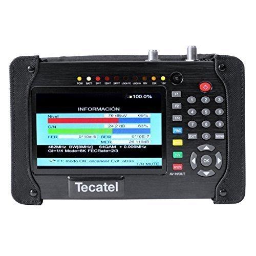 Tecatel M T1   Medidor combo HD dvb s /dvb t/dvb c, color negro