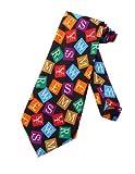Tie Mania Männer international Geld Währung Symbole Krawatte - schwarz - Einheitsgröße