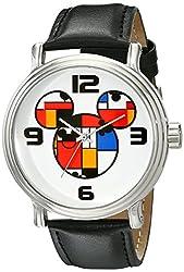 Disney Mens W001834 Mickey Mouse Analog Display Analog Quartz Black Watch