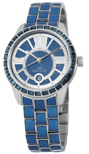 Carlo Monti Cosenza Women's Quartz Watch with Blue Dial Analogue Display and Blue Stainless Steel Bracelet CMZ01-133
