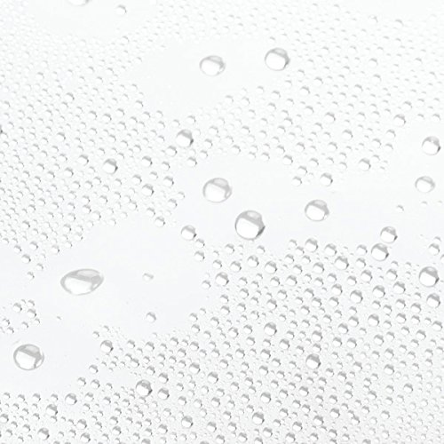 InterDesign 3.0 Liner Futter für Duschvorhang, 183,0 cm x 183,0 cm großer Vorhang aus schimmelresistentem PEVA mit zwölf Ösen, durchsichtig - Bild 8