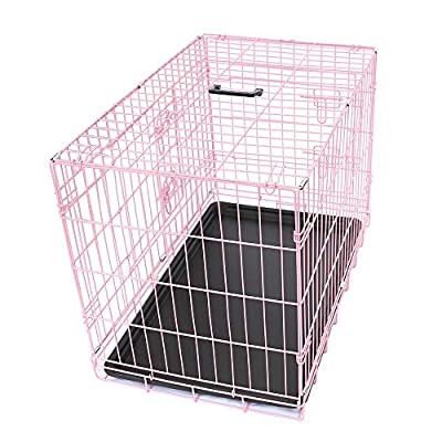 Greenbay Pet Puppy Crate Folding Dog Training Travel Cage with Detachable Tray from Manufacturer for Greenbay