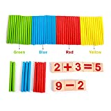 #7: Babysid Collections Math Learning Puzzle for Kids Girls Boys Wooden mathematical intelligence stick 65 Pcs Play Set Learning and Educational Toy 3+