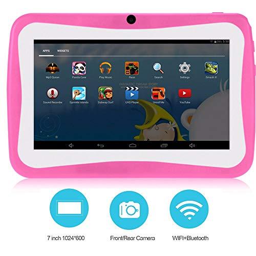 """Lu Kids Edition Tablet, 7\""""HD Display, frühkindliche Lernmachung mit WiFi und Kamera und Spiele Kinder Lerncomputer 8G Speicher unterstützt WiFi,Pink"""