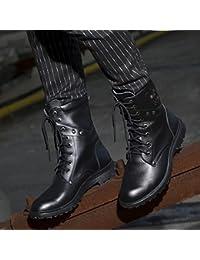 &ZHOU Botas de otoño e invierno las botas cortas par de Adultos 'Martin botas botas Knight A6-1 , black , 42