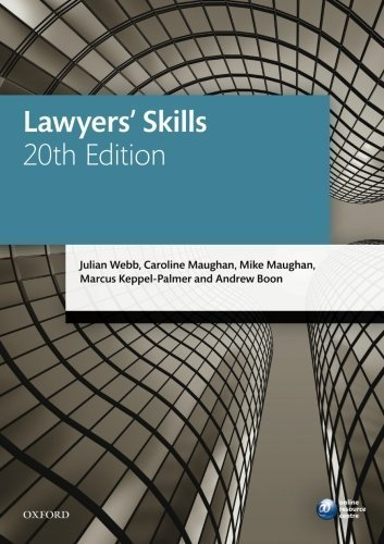 Lawyers' Skills (Blackstone Legal Practice Course Guide) by Julian Webb (2015-08-25)