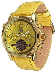 Lindberg & Sons Reloj Automático Esfera de Color piraeus Amarillo y Correa de piel