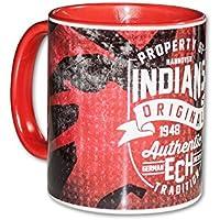 "Hannover Indians ""Property of Indians Original"" Keramiktasse, Weiß/Rot"