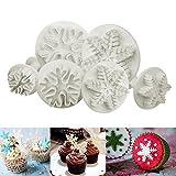 ilauke Set di 6 Coppapasta a Forma di Fiocco di Neve, per Decorazione di Fondente per Torta