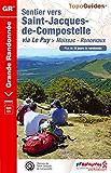 Sentier vers Saint-Jacques-de-Compostelle : Moissac-Roncevaux: Topo-guide de Grande Randonnée - Edition 2014 (e-topo®)