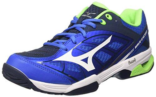 Mizuno Wave Exceed AC Scarpe da Tennis Uomo, Multicolore (StrongBlue/White/DressBlues) 44.5 EU