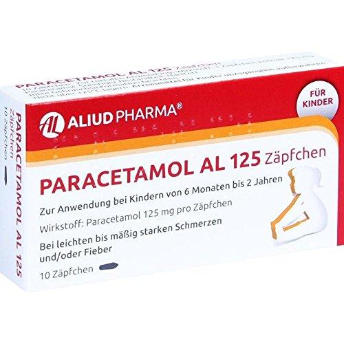 Paracetamol AL 125 mg Zäpfchen, 10 St. Zäpfchen