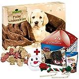 Schecker Weihnachts-Geschenkbox + Adventskalender für Hunde 24 Tage bis Weihnachten, und jeden Tag gibt es eine Kleine Knabberei!