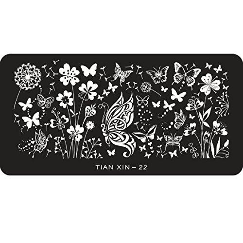 Vovotrade 2015 1PC Hot Papillon Nail Art Sticker Stamping Plaques de décoration bricolage