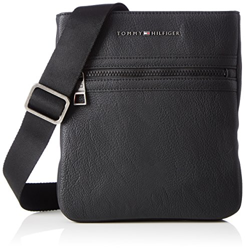 96fc8aec TOMMY HILFIGER ACCESSORI Essential Crossover, Bolso Bandolera para Hombre,  Negro (Tommy Navy/Core STP), 26x3x24 Centimeters (B x H x T)