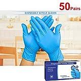 Range (boîte de 100) Ntrile non poudrés Extra sensibles Gants de grande longueur 23cm (Bleu)