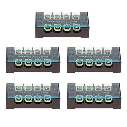 Sharplace 5 Stücke 25AMP Sperren-Reihenklemmen-Kabel-Verbindungsstück für Alle Fahrzeuge -