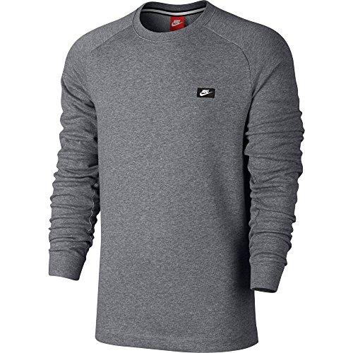Nike M NSW Modern CRW ft T-Shirt langarm, Herren Grau