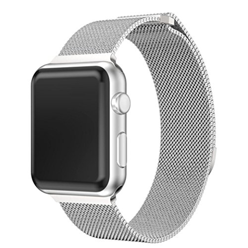 Preisvergleich Produktbild taottao Milanaise Edelstahl Magnetverschluss Watch Band für Apple Watch Serie 3 38 mm,  silber