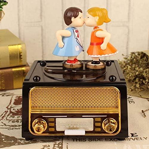DFUTYK Classique Nostalgique Radio Joueur Boîte Boîte Boîte à Musique Statue Poupée Boîte À Musique Boîte à Bijoux Conteneur Radio Forme Décoration De Mariage Cadeau | Matériaux Sélectionnés Avec Soin  0332ba