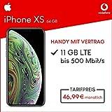 Apple iPhone XS (space grau) 64GB Speicher Handy mit Vertrag (Vodafone Smart XL) 11GB Datenvolumen 24 Monate Mindestlaufzeit