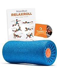 Relaxroll ® (Das Original) Faszienrolle, blue/orange, 100% Made in Germany, inkl. Übungs-DVD und Übungs-Flyer