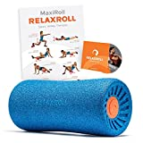 Relaxroll ® (Das Original) Faszienrolle, blue/orange, 100% Made in Germany, inkl. Übungs-DVD und Übungs-Flyer