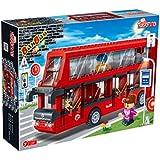 Banbao  Building Blocks Transportation Double Decker Bus, Multi Color