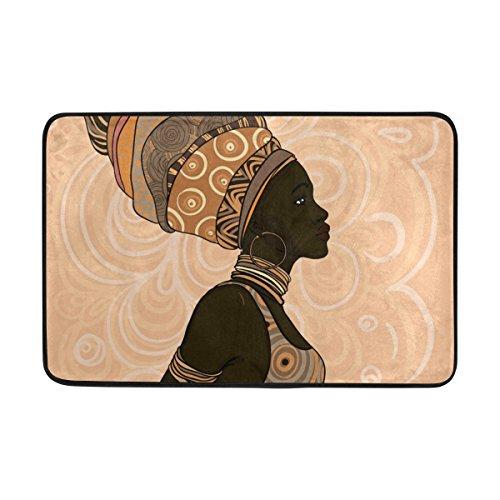 (Ahomy Badteppich Afrika Frau Art Rutschfest Dusche Matten antibakteriell weich saugfähig Teppich Polyester Bereich Teppiche für Badezimmer Schlafzimmer Wohnzimmer 60x 40cm (2x 1.3ft))