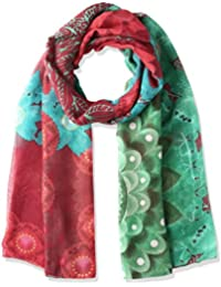Desigual Damen Schal Mehrfarbig Foulard Rectangle Bollywood 67W54C0-4050