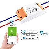 Smart WIFI Schalter, Kobwa 2 Kanal Fernbedienung Wireless Schalter für Licht und Haushaltsgeräte mit Alexa Google Home Support IOS Android