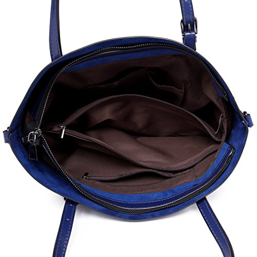 Miss Lulu Borsa donna pelle sintetica Marchio di moda borsa a tracolla grande qualità borsa messenger casuale di acquisto (Marrone) Marina Envío Libre Perfecto XioSmL7