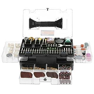 Accessoires d'outil Rotatif Meterk® 349 Pieces kit d'accessoires Universels pour Outil Rotatif, pour gravure/polissage/découpage/dérouiller/Forage et Meulage