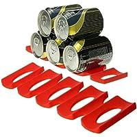 Soporte para estante de nevera de Tmalltide, para botellas de agua y latas de alimentos, de alta resistencia 1 pack rosso