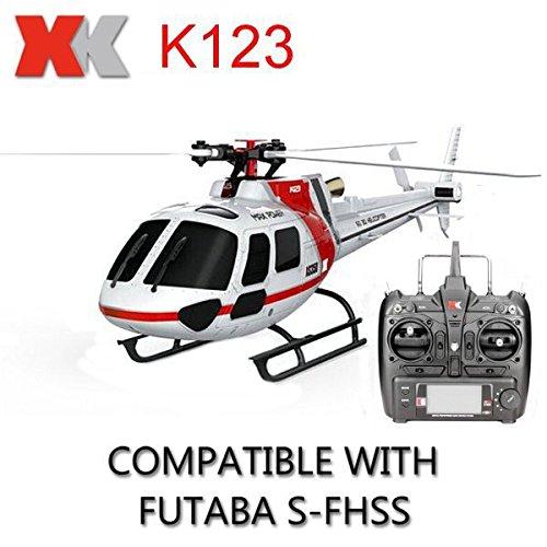 Calli XK K123 6CH Brushless AS350 Scale RC Hubschrauber RTF Mode 2