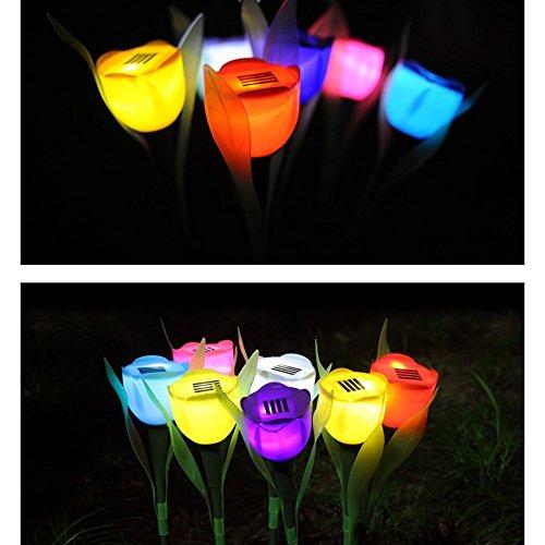 il paesaggio del cortile accende le luci all'aperto del giardino del prato inglese delle luci del giardino solare della lanterna del tulipano, verde