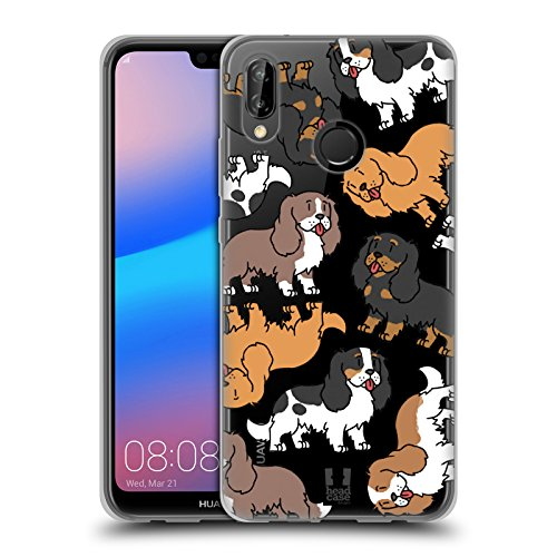 Head Case Designs Cavalier King Charles Spaniels Pattern Razze di Cani 3 Cover in Morbido Gel Compatibile con Huawei P20 Lite